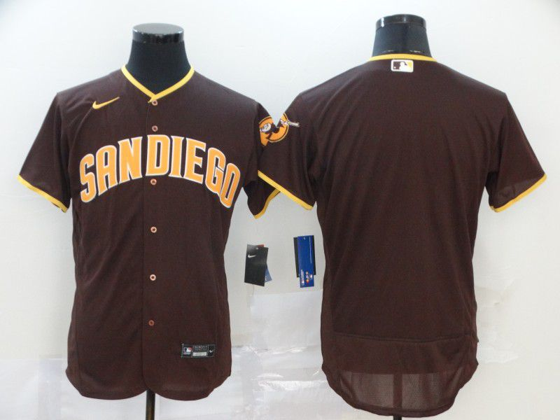 Men San Diego Padres Blank brown Nike Elite MLB Jerseys