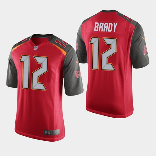 Men Tampa Bay Buccaneers 12 Tom Brady Jersey Red Limited Vapor Untouchable NFL Jerseys