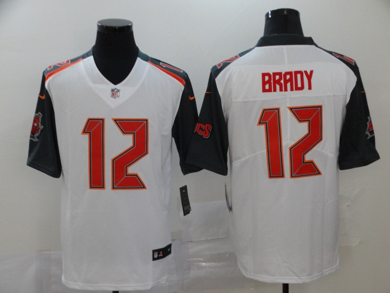Men Tampa Bay Buccaneers 12 Tom Brady White Nike Limited Vapor Untouchable NFL Jerseys