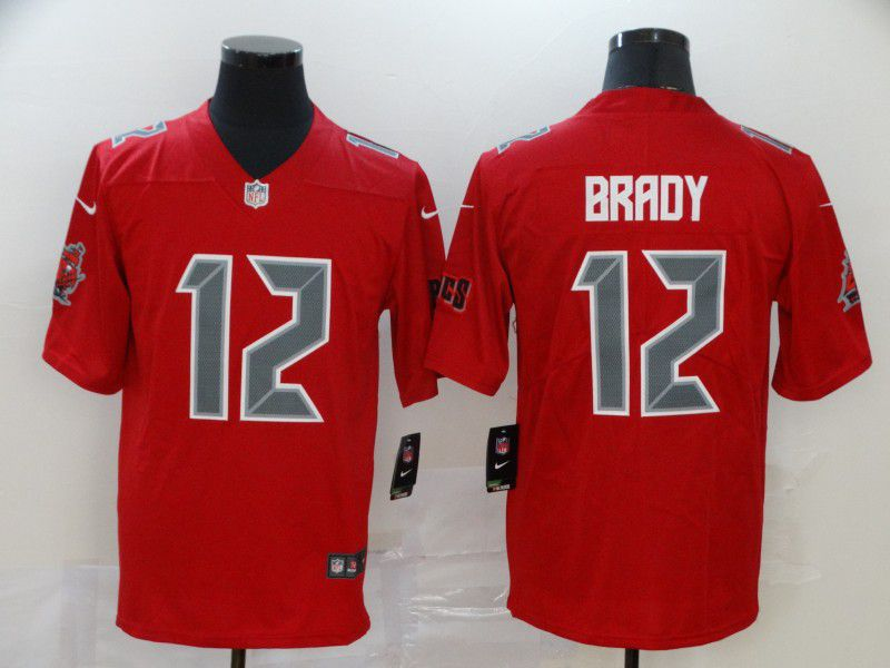 Men Tampa Bay Buccaneers 12 Tom Brady red Nike Limited Vapor Untouchable NFL Jerseys2