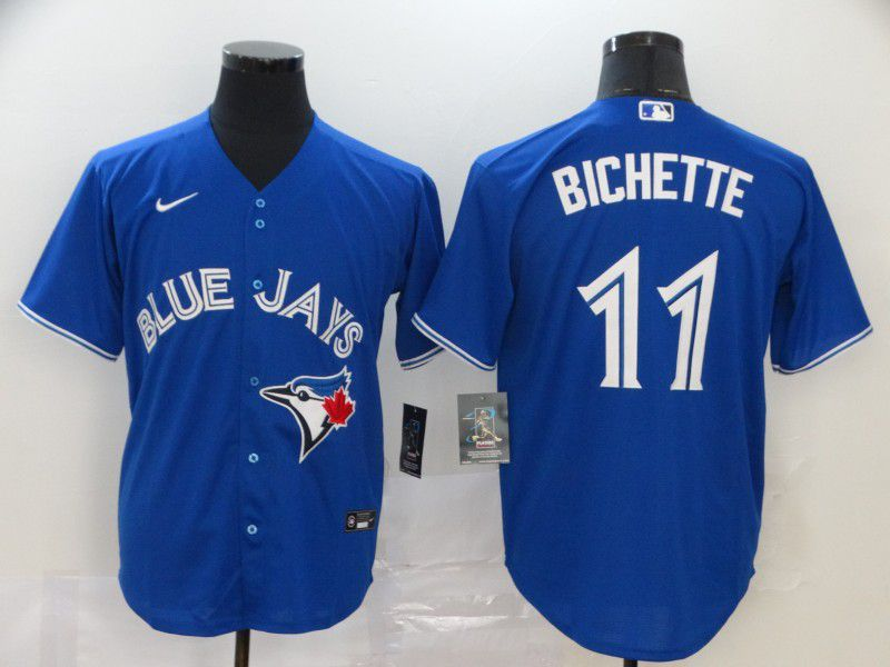 Men Toronto Blue Jays 11 Bichette Blue Nike Game MLB Jerseys