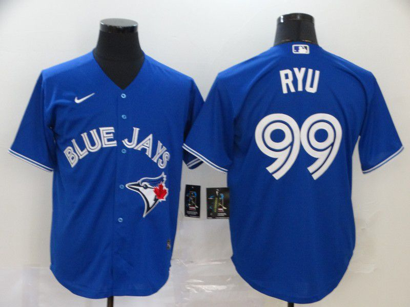 Men Toronto Blue Jays 99 Ryu Blue Nike Game MLB Jerseys
