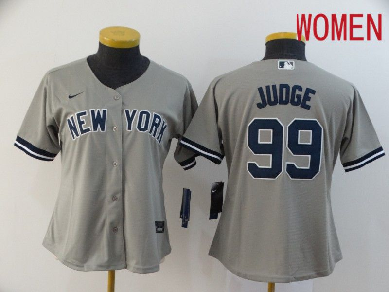 Women New York Yankees 99 Judge Grey Nike Game MLB Jerseys