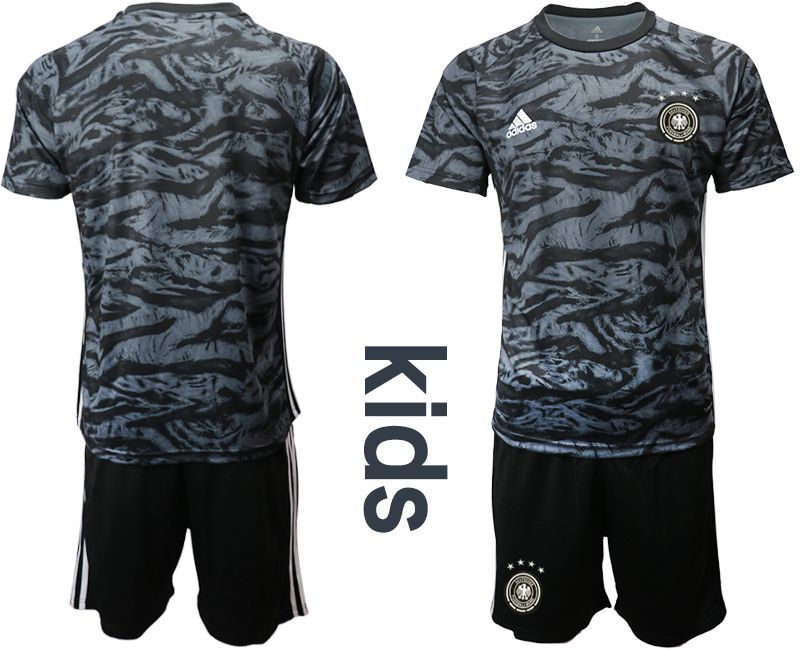 Youth 2019-2020 Season National Team Germany black goalkeeper Soccer Jerseys