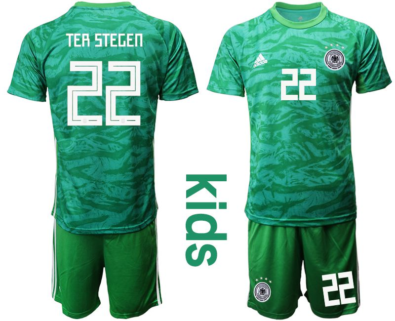 Youth 2019-2020 Season National Team Germany green goalkeeper 22 Soccer Jerseys