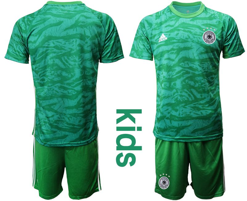 Youth 2019-2020 Season National Team Germany green goalkeeper Soccer Jerseys