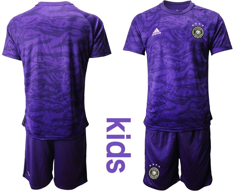 Youth 2019-2020 Season National Team Germany purple goalkeeper Soccer Jerseys