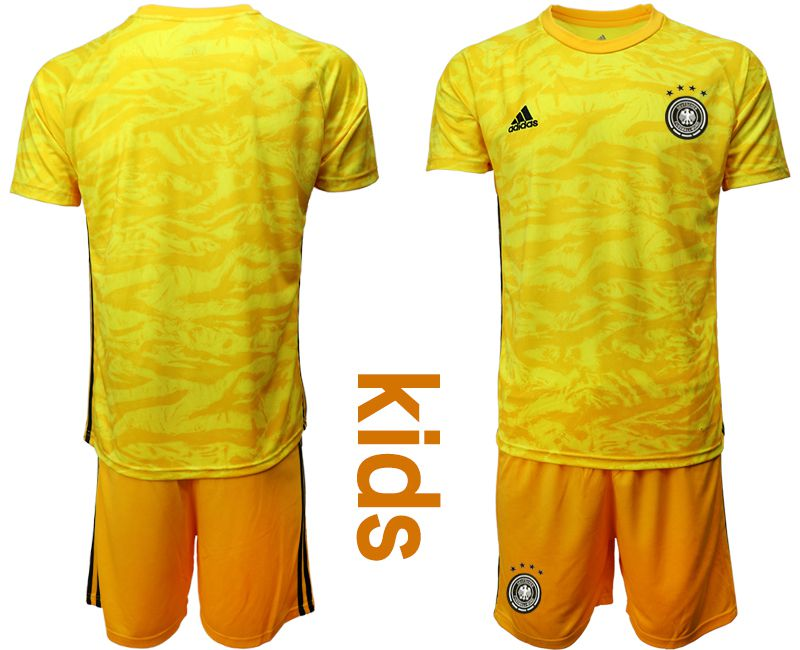 Youth 2019-2020 Season National Team Germany yellow goalkeeper Soccer Jerseys