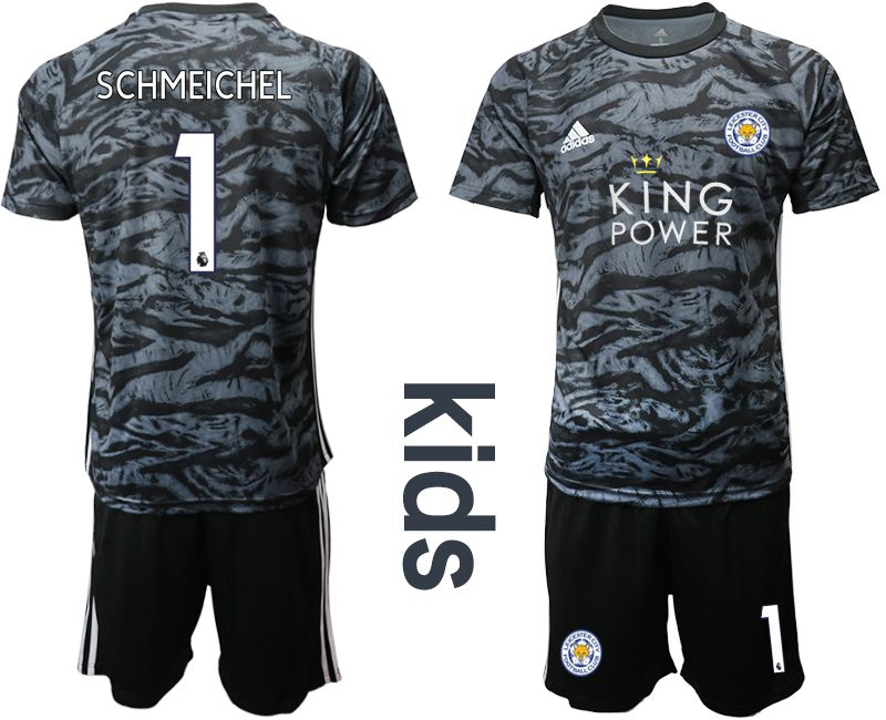 Youth 2019-2020 club Leicester City black goalkeeper 1 Soccer Jerseys