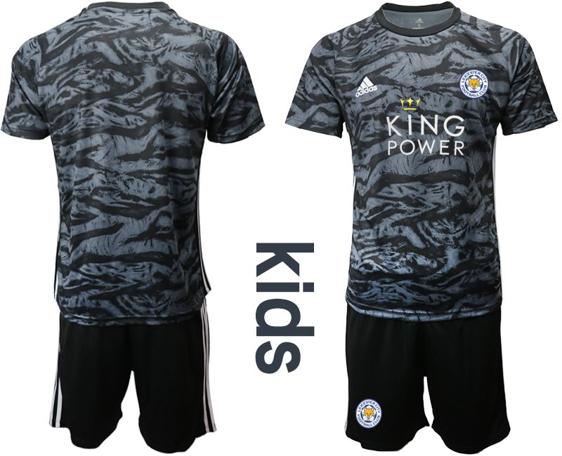 Youth 2019-2020 club Leicester City black goalkeeper Soccer Jerseys