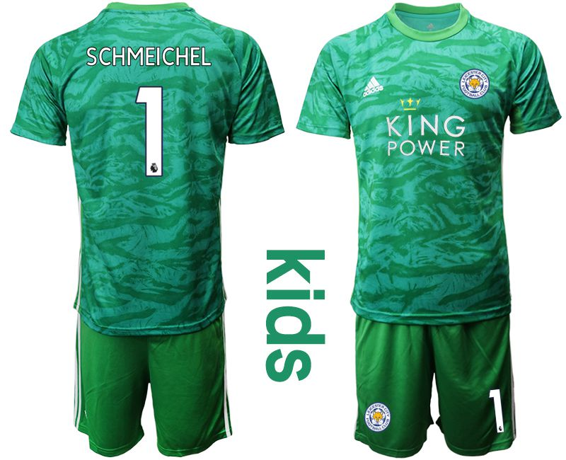 Youth 2019-2020 club Leicester City green goalkeeper 1 Soccer Jerseys