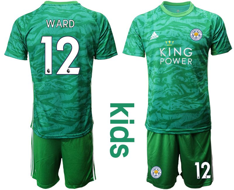 Youth 2019-2020 club Leicester City green goalkeeper 12 Soccer Jerseys