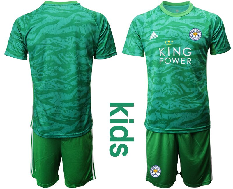 Youth 2019-2020 club Leicester City green goalkeeper Soccer Jerseys