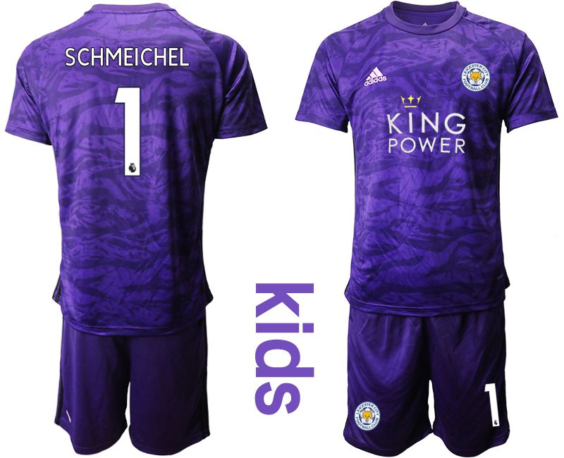 Youth 2019-2020 club Leicester City purple Goalkeeper 1 Soccer Jersey