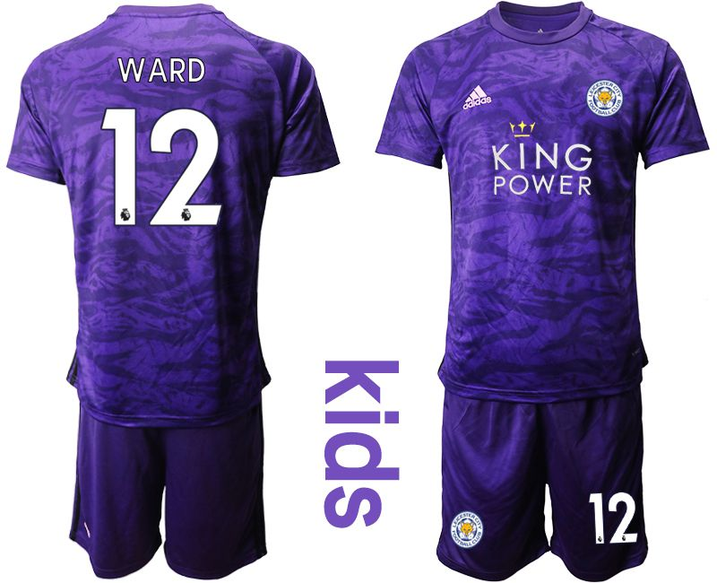 Youth 2019-2020 club Leicester City purple Goalkeeper 12 Soccer Jersey