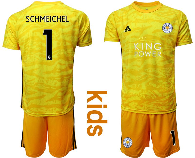 Youth 2019-2020 club Leicester City yellow goalkeeper 1 Soccer Jerseys