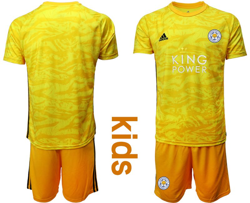 Youth 2019-2020 club Leicester City yellow goalkeeper Soccer Jerseys