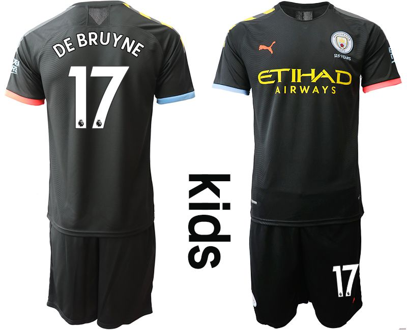 Youth 2019-2020 club Manchester City away 17 black Soccer Jerseys