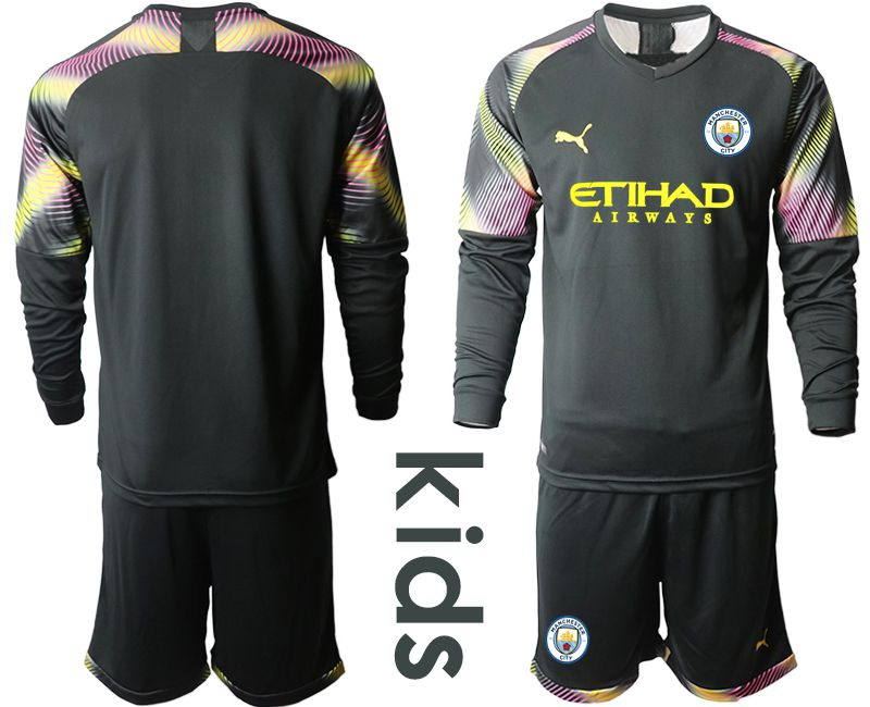 Youth 2019-2020 club Manchester City black goalkeeper Long sleeve Soccer Jerseys