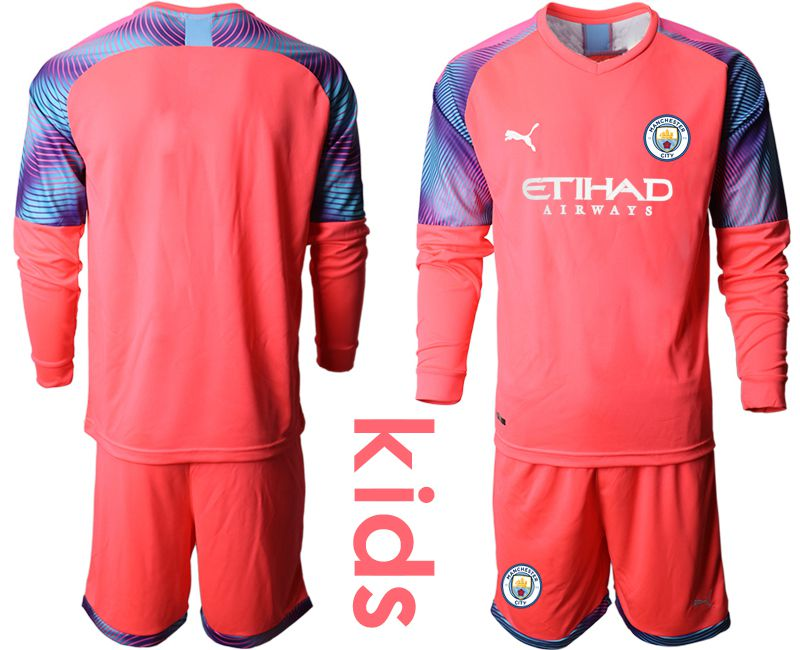 Youth 2019-2020 club Manchester City pink goalkeeper Soccer Jerseys