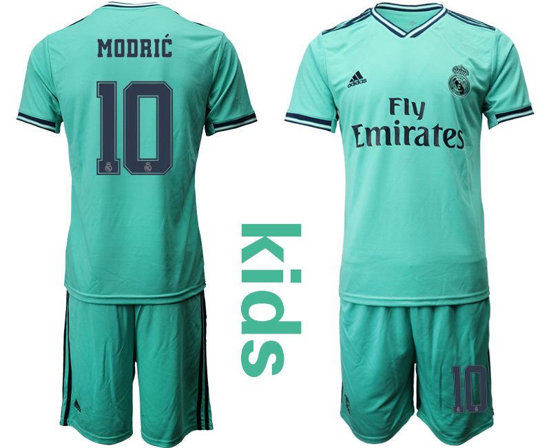 Youth 2019-2020 club Real Madrid away 10 green Soccer Jerseys