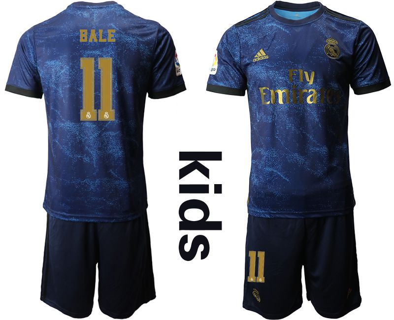 Youth 2019-2020 club Real Madrid away 11 blue Soccer Jerseys