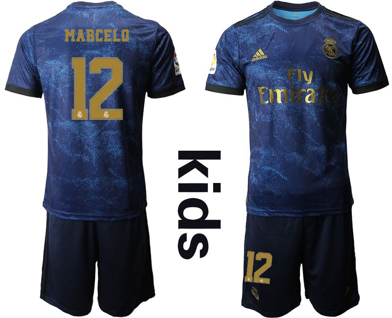 Youth 2019-2020 club Real Madrid away 12 blue Soccer Jerseys