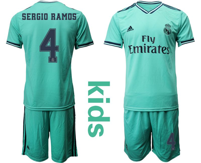 Youth 2019-2020 club Real Madrid away 4 green Soccer Jerseys