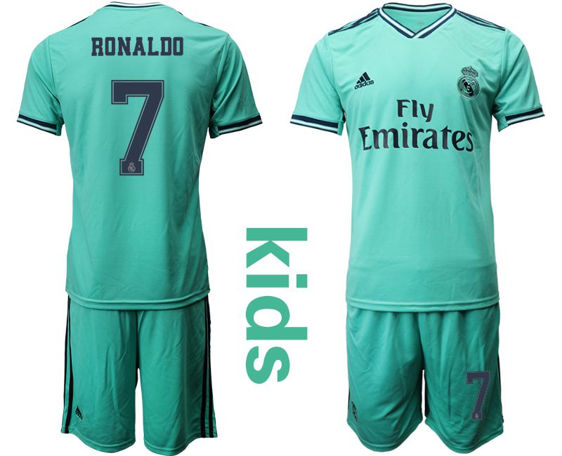 Youth 2019-2020 club Real Madrid away 7 green Soccer Jerseys