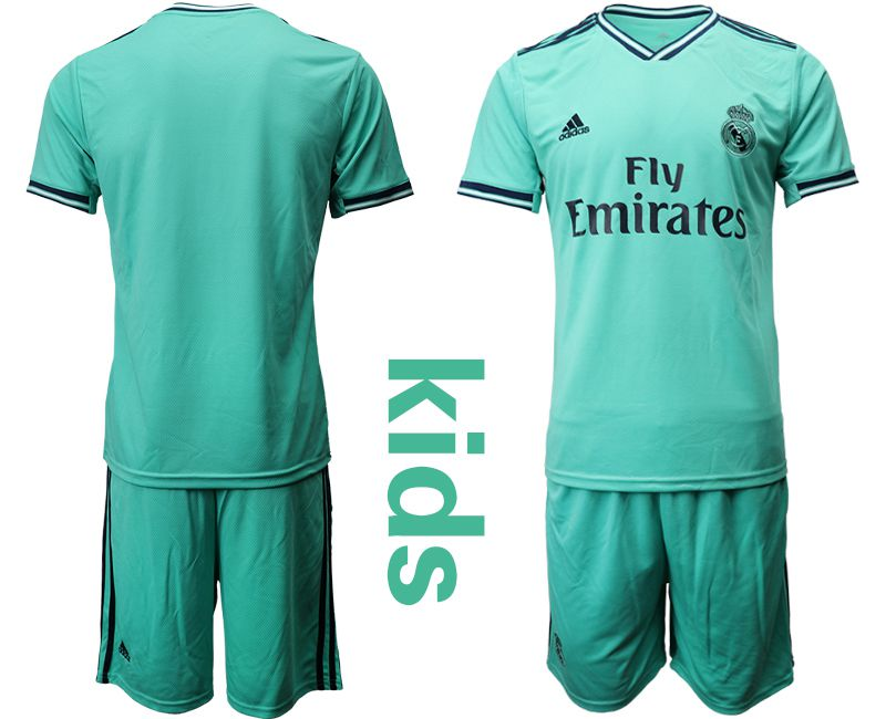 Youth 2019-2020 club Real Madrid away Blank green Soccer Jerseys