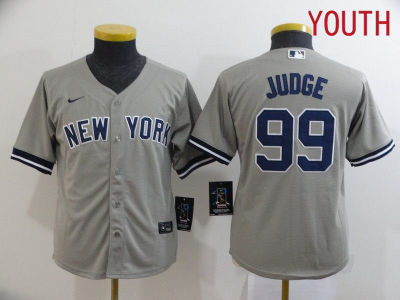 Youth New York Yankees 99 Judge Grey Nike Game MLB Jerseys