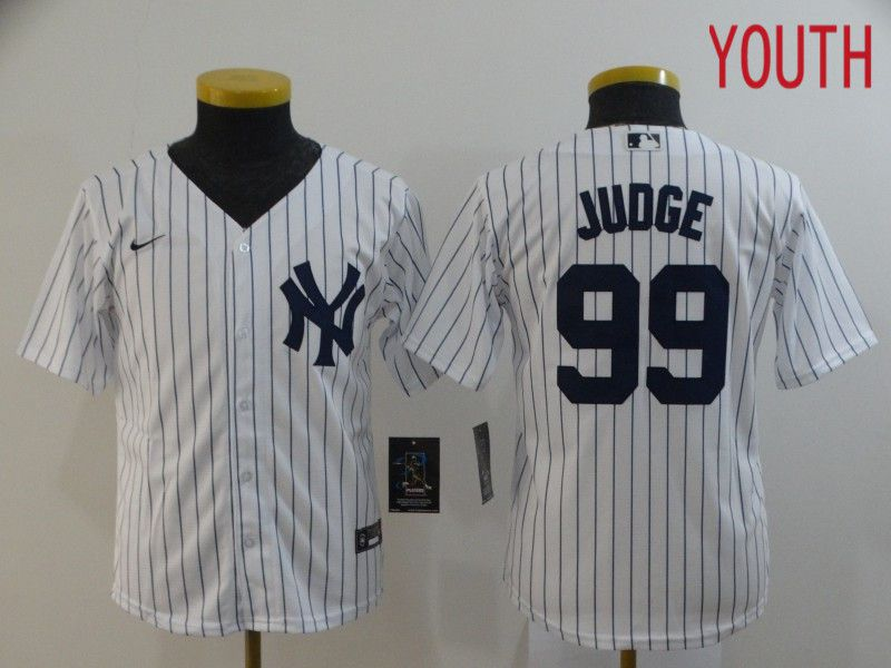 Youth New York Yankees 99 Juoge White Nike Game MLB Jerseys