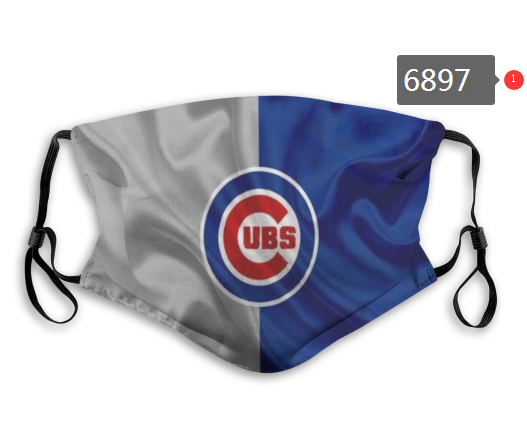 2020 MLB Chicago Cubs 4 Dust mask with filter
