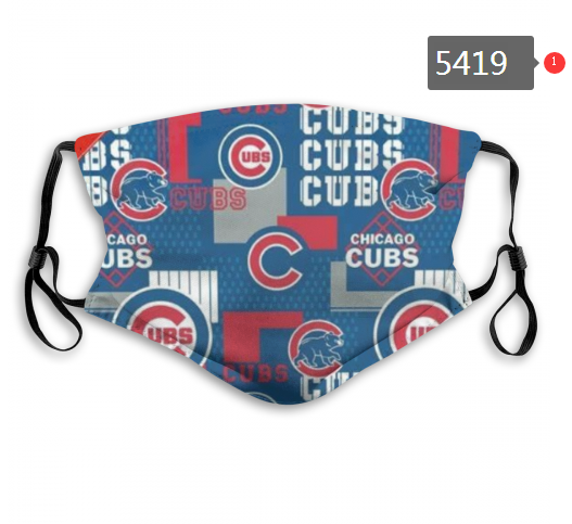 2020 MLB Chicago Cubs 5 Dust mask with filter