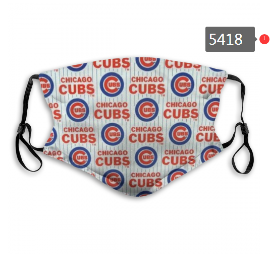 2020 MLB Chicago Cubs 6 Dust mask with filter