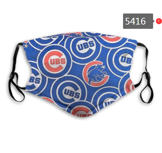 2020 MLB Chicago Cubs 8 Dust mask with filter