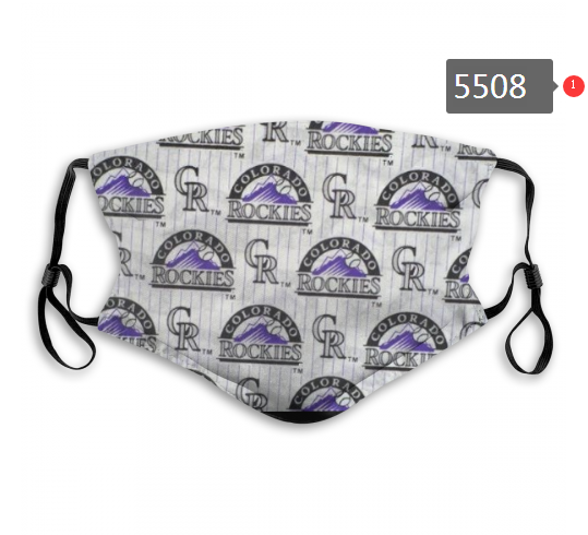 2020 MLB Colorado Rockies 2 Dust mask with filter