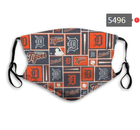 2020 MLB Detroit Tigers 3 Dust mask with filter