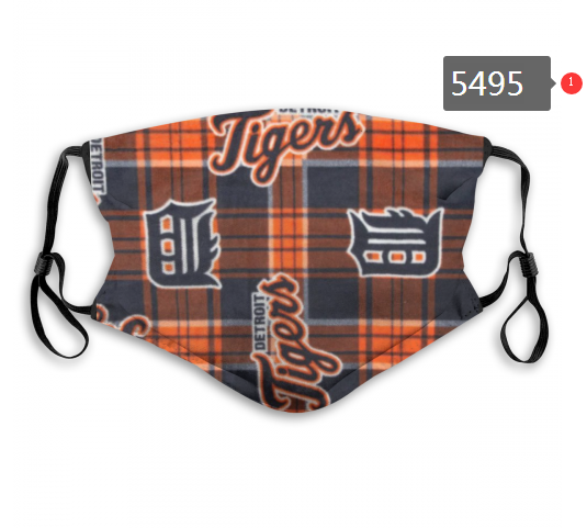 2020 MLB Detroit Tigers 4 Dust mask with filter