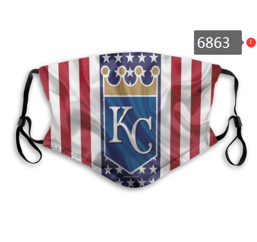 2020 MLB Kansas City Royals 1 Dust mask with filter