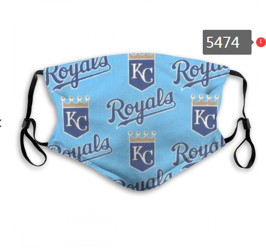 2020 MLB Kansas City Royals 2 Dust mask with filter