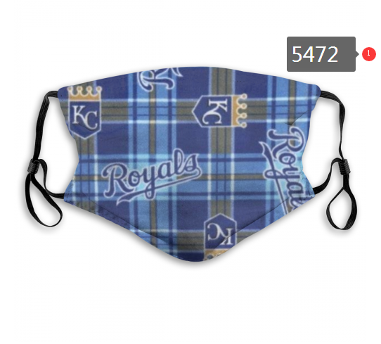 2020 MLB Kansas City Royals 4 Dust mask with filter