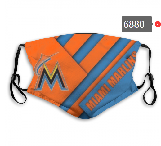 2020 MLB Miami Marlins 1 Dust mask with filter