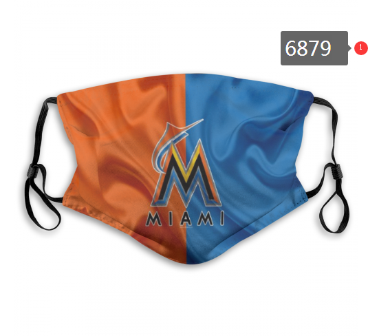 2020 MLB Miami Marlins 2 Dust mask with filter