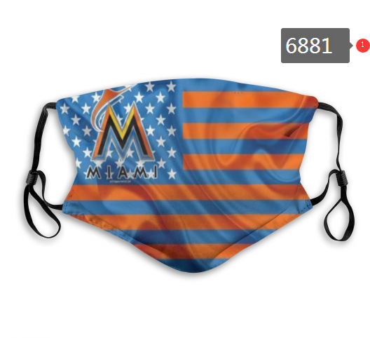 2020 MLB Miami Marlins Dust mask with filter