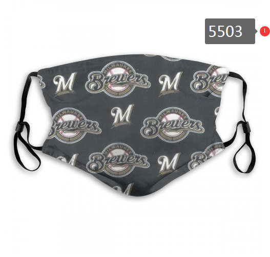 2020 MLB Milwaukee Brewers 3 Dust mask with filter