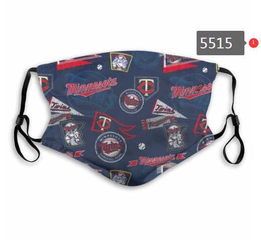 2020 MLB Minnesota Twins 3 Dust mask with filter