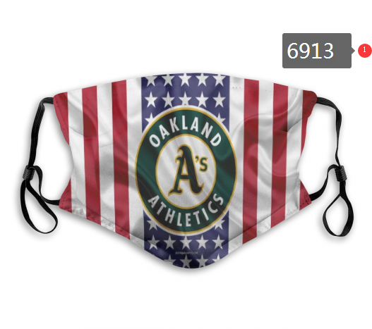2020 MLB Oakland Athletics 2 Dust mask with filter