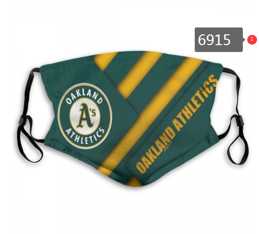 2020 MLB Oakland Athletics Dust mask with filter