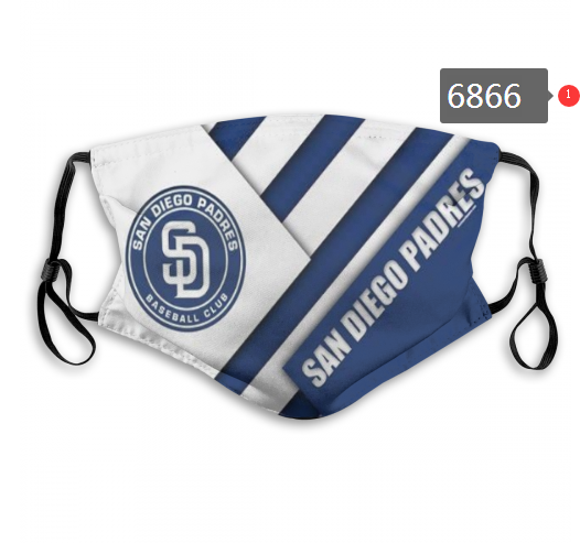 2020 MLB San Diego Padres Dust mask with filter